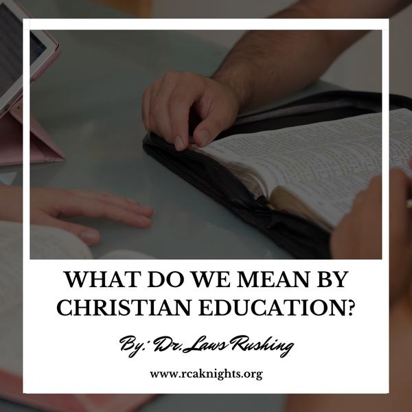 Bible, Christian Education